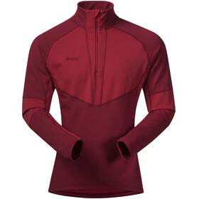 Bergans Roni Half-Zip Fleece Shirt Men burgundy/red